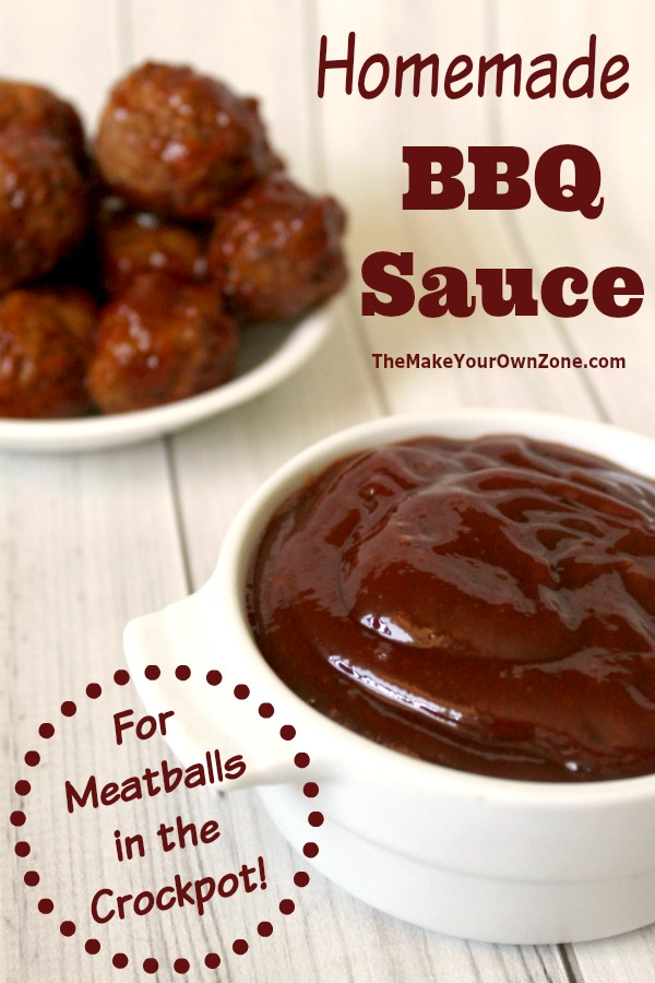 Homemade BBQ Sauce for meatballs in the crockpot