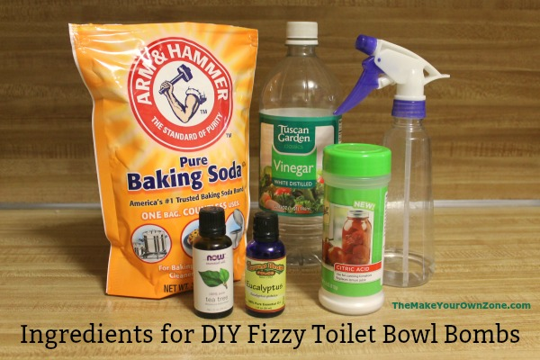 How to make DIY Toilet Cleaning Fizzy Bombs
