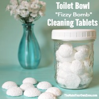 Homemade Toilet Bowl Cleaning Fizzy Bomb Tablets