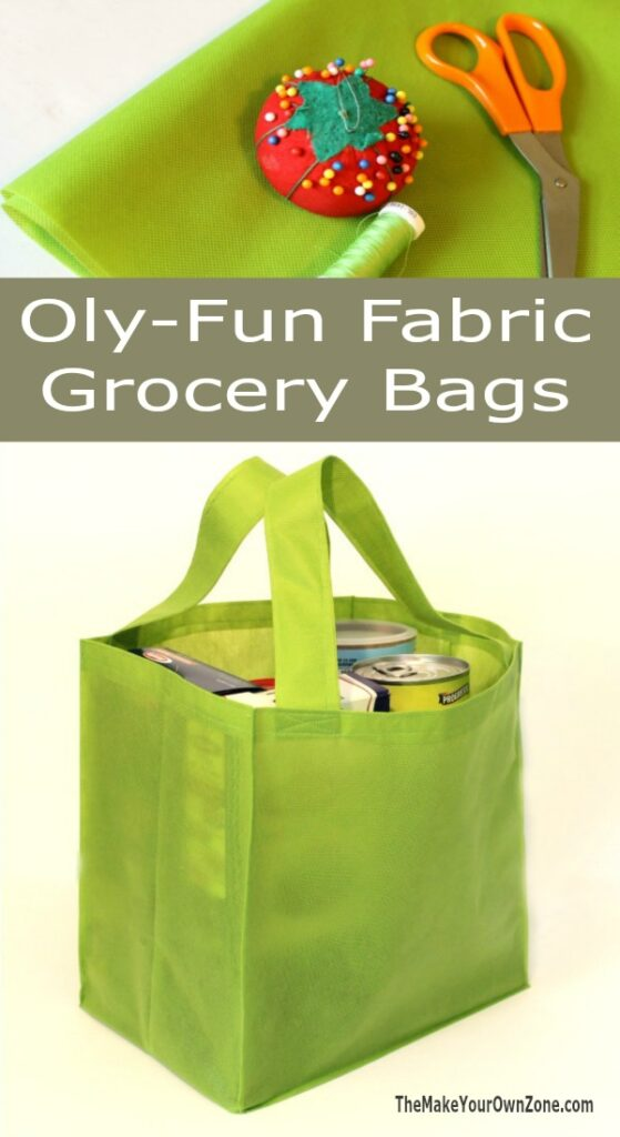 How to make a reusable grocery bag using Oly-Fun Fabric