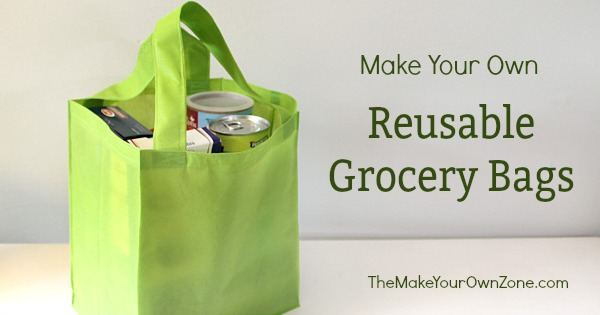 Homemade reusable grocery store bags