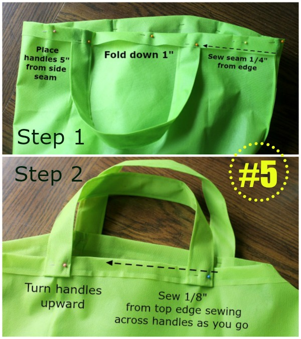 How to sew a reusable cloth grocery bag