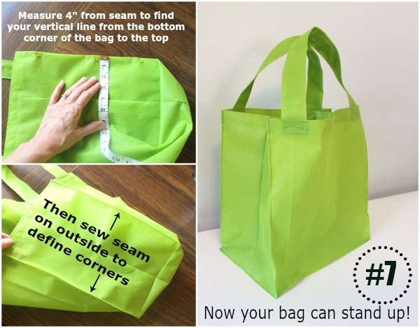 How to make a reusable grocery tote bag