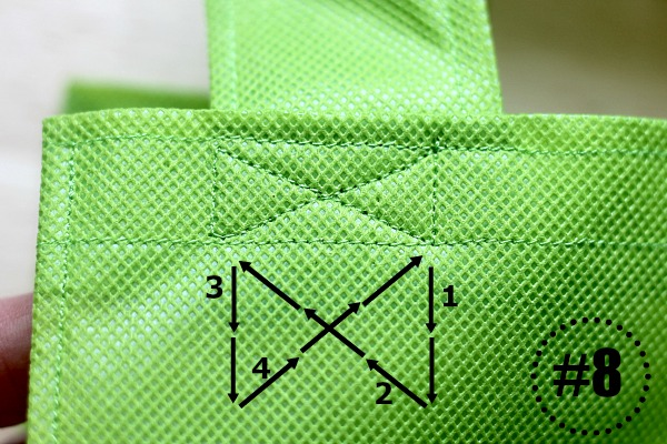 make your own reusable cloth grocery bag