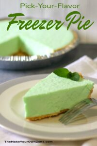 Easy Freezer Pie Recipe made with jello, cool whip, and yogurt