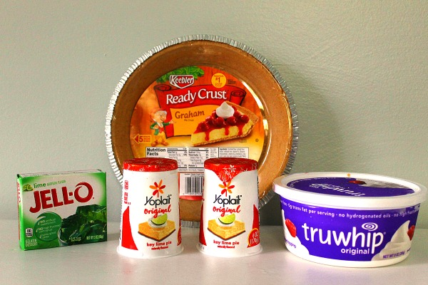 Ingredients for Pick Your Flavor Freezer Pie using jello, cool whip, and yogurt