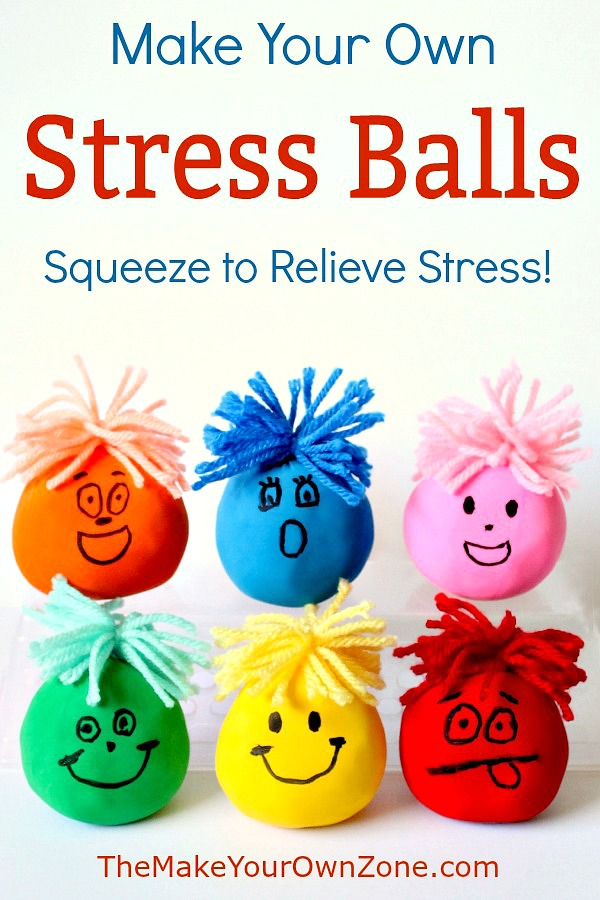 Make your own stress balls using balloons and flour