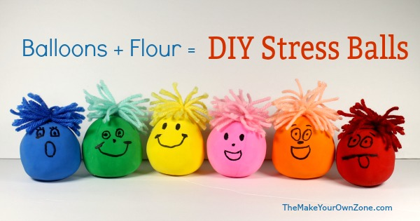 How to make DIY Stress Balls using balloons and flour