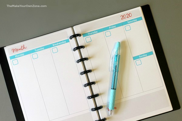 Free printable planner pages to make your own planners for Arc notebooks