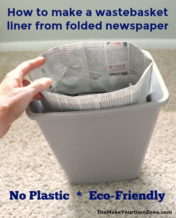 Eco friendly newspaper trash bag
