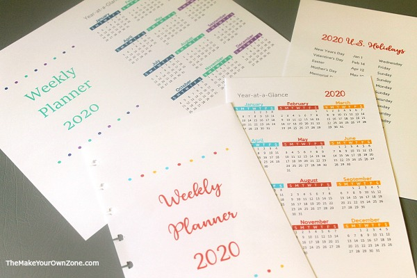 Make your own 2020 planner using an Arc notebook