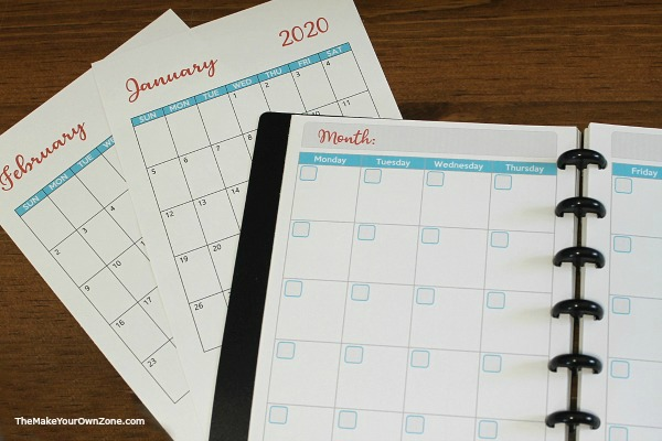 Free printable pages for Arc Notebooks and Planners