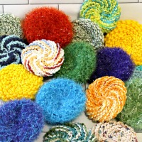 Round Knit Scrubbies