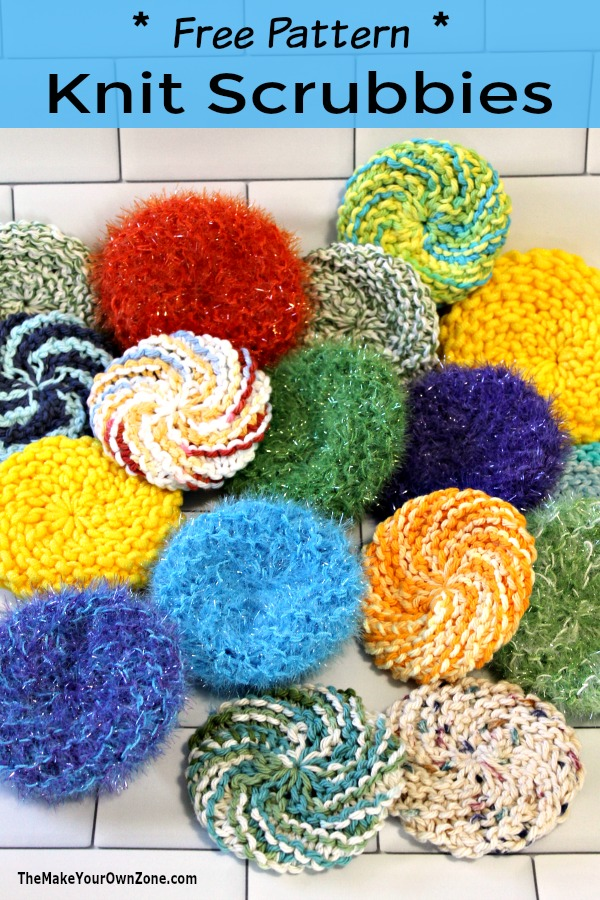 How to make knit scrubbies