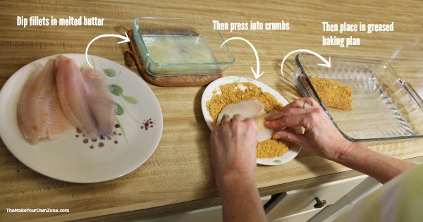 How to make a crumb coating for tilapia