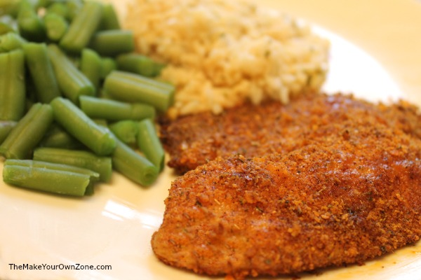 Homemade crumb coating for baked tilapia