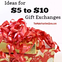 Gift exchange ideas using homemade gifts