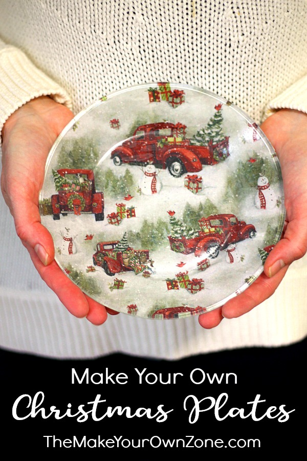 How to make a decorative Christmas plate