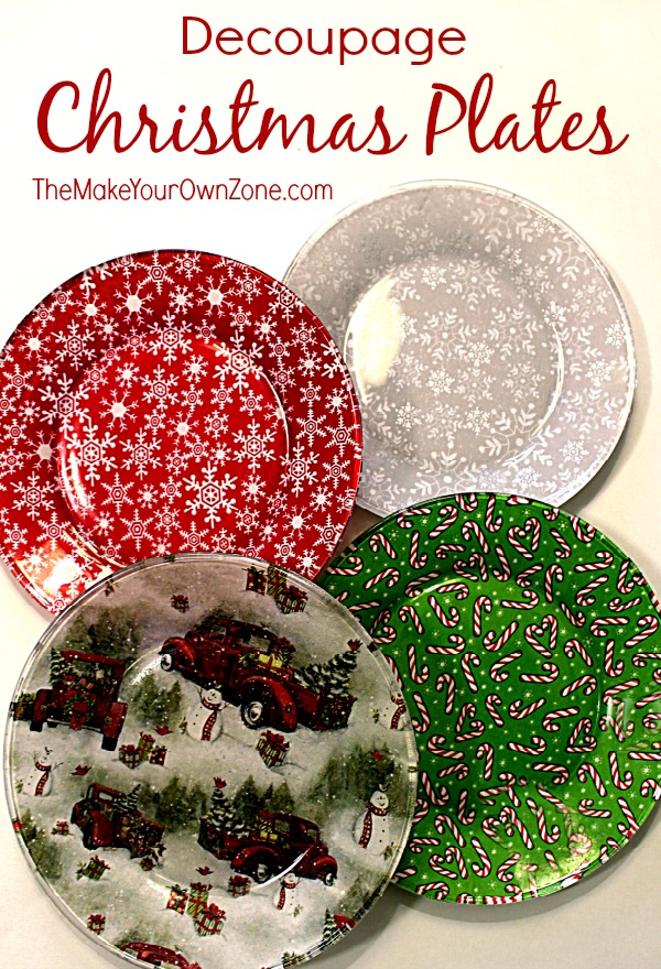Diy Christmas Plates The Make Your Own Zone