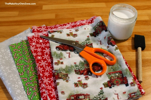 How to decoupage a plate using fabric