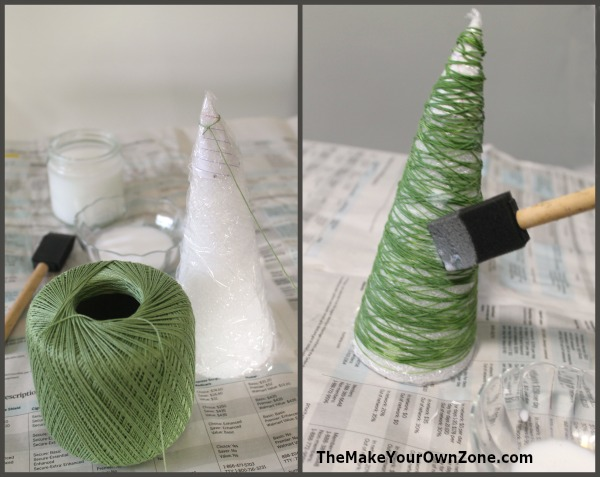 How to make a string Christmas Tree