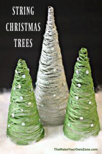How to make a tabletop string Christmas Tree
