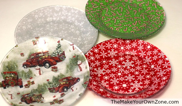 How to decorate plates for Christmas