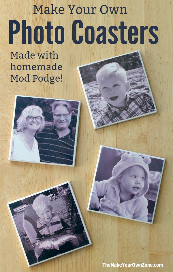 How to make DIY tile photo coasters