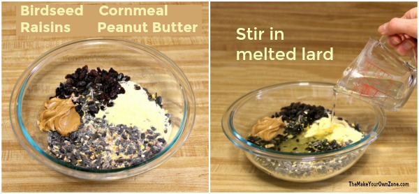 How to make your own birdseed cakes without gelatin