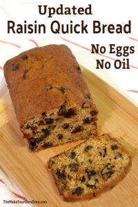 quick bread recipe with no eggs and no oil