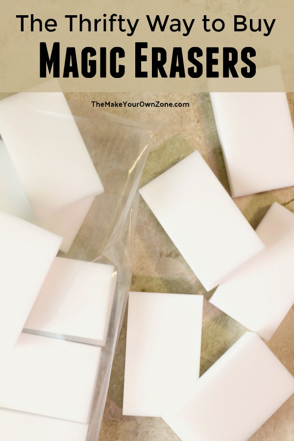 DIY Hack to make homemade magic erasers