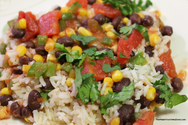Recipe for rice and beans