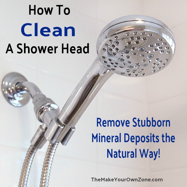 remove mineral deposits from a shower head