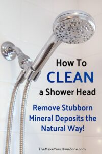 How to clean a shower head and remove mineral deposits