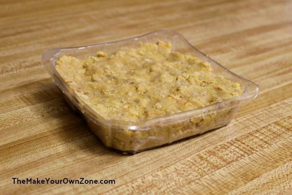 Homemade No Melt Suet Cake in a mold