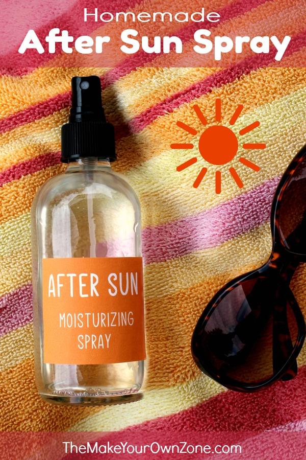 How to make a homemade after sun spray