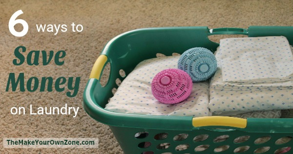 washer balls in a basket of laundry