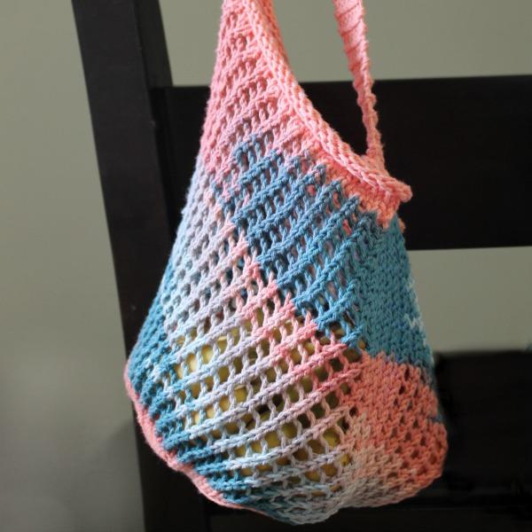 Knit string market bag