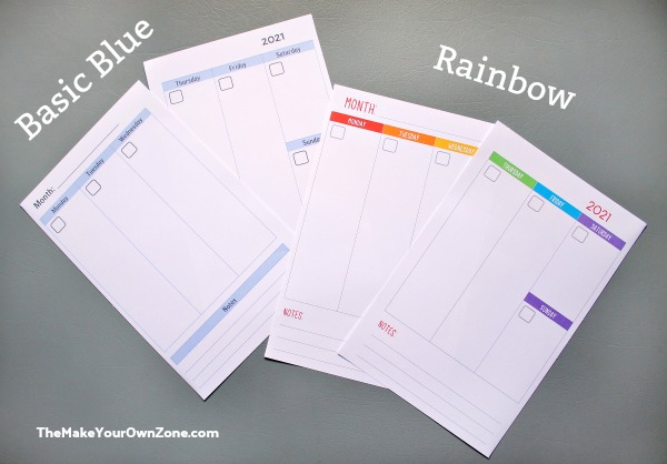 print your own planner pagesw