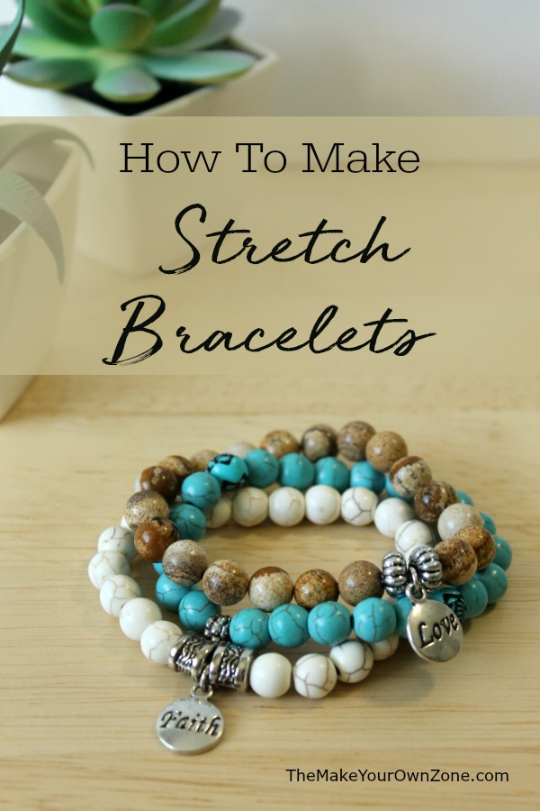 How to make stretch cord bracelets