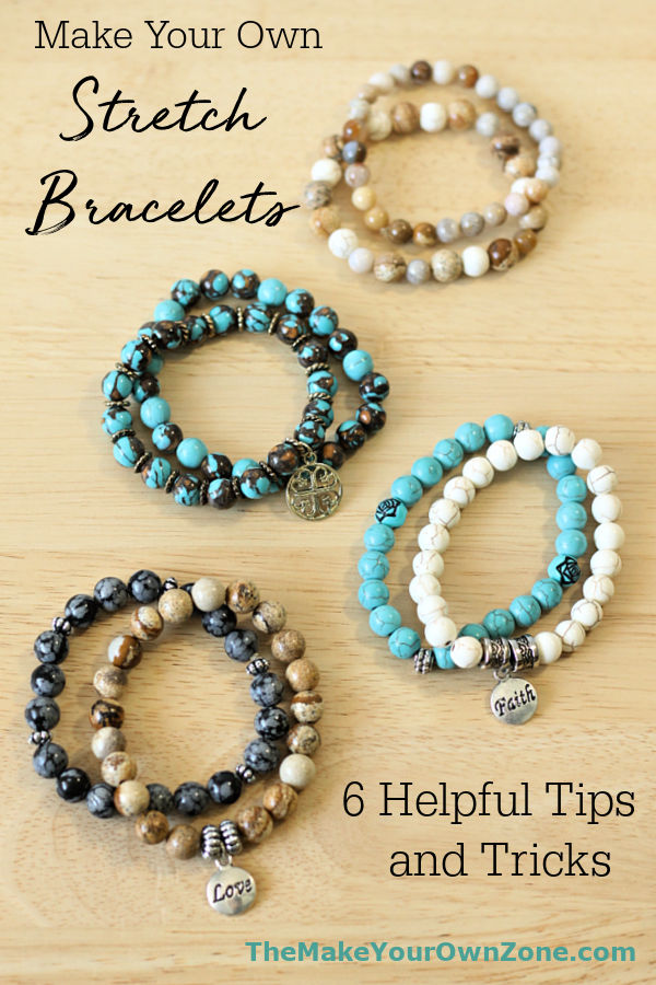 Make your own stretch cord bracelets