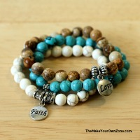 DIY stretch bracelets