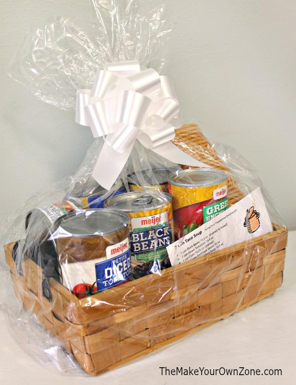 Taco soup gift basket