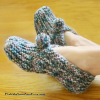 Simple Knit Slippers {Free Pattern}