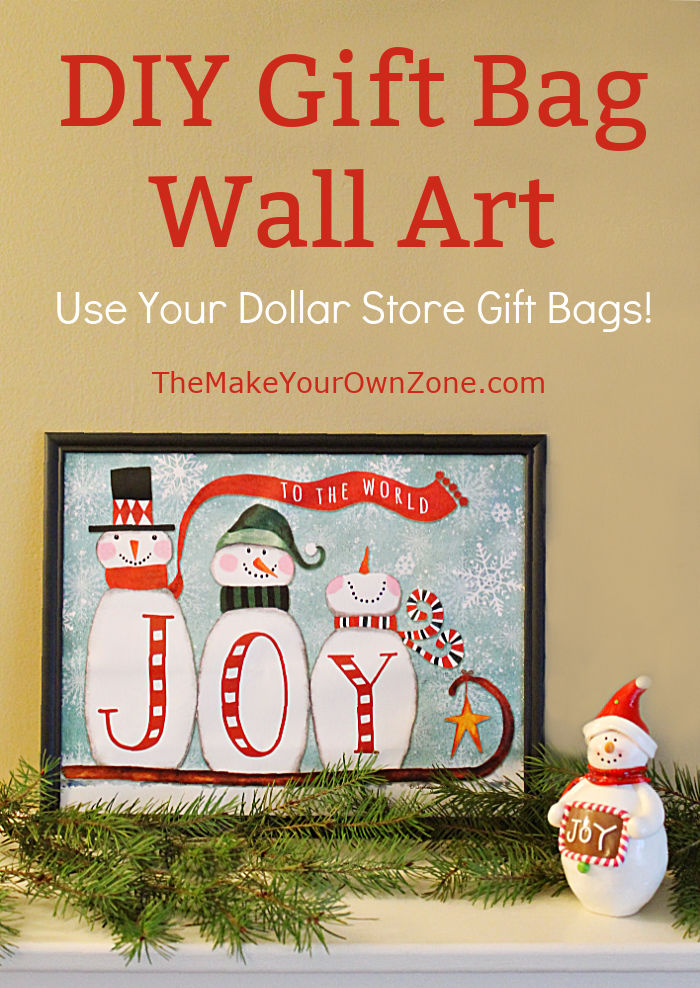 How to make pictures using dollar store gifrt bags