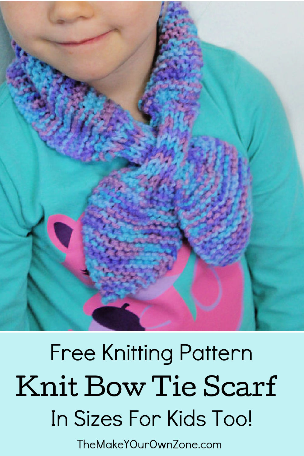 knit bow tie scarf for kids