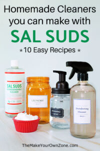 homemade cleaners that are made using Sal Suds
