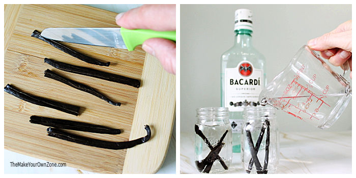 Steps for making homemade vanilla extract