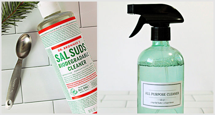 Homemade all purpose cleaner with Sal Suds