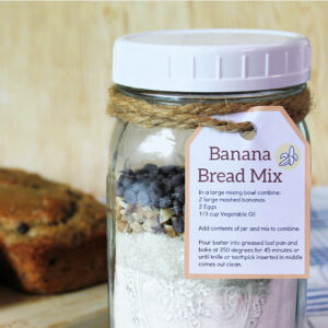 Banana bread mix gift jar